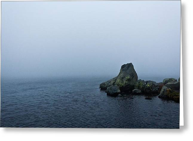 Landscape Posters Greeting Cards - Into the Mist Greeting Card by Chris Whittle