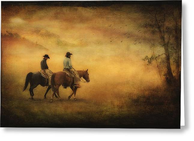 Into The Mist Greeting Card by Priscilla Burgers