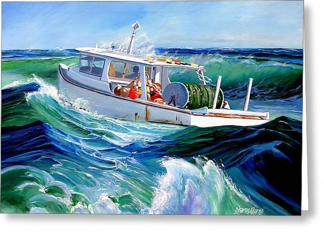 Coastal Art North Carolina Greeting Cards - Into the Slough Greeting Card by Sharon Kearns