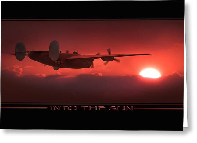 Warbird Art Greeting Cards - Into The Sun Show print Greeting Card by Mike McGlothlen