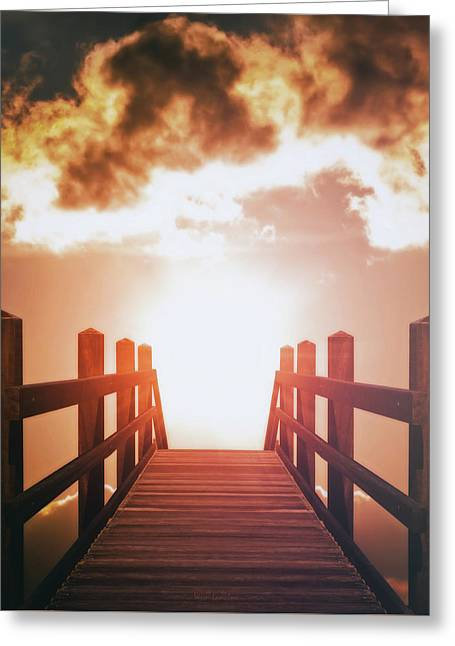 Into The Sun Greeting Card by Wim Lanclus