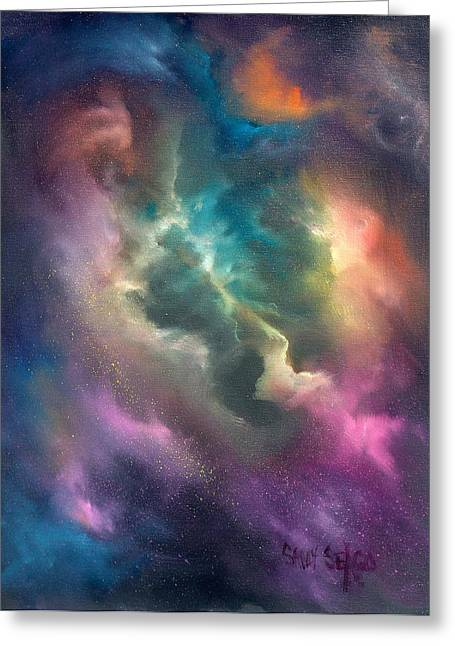 Nebule Greeting Cards - Into the Unknown Greeting Card by Sally Seago