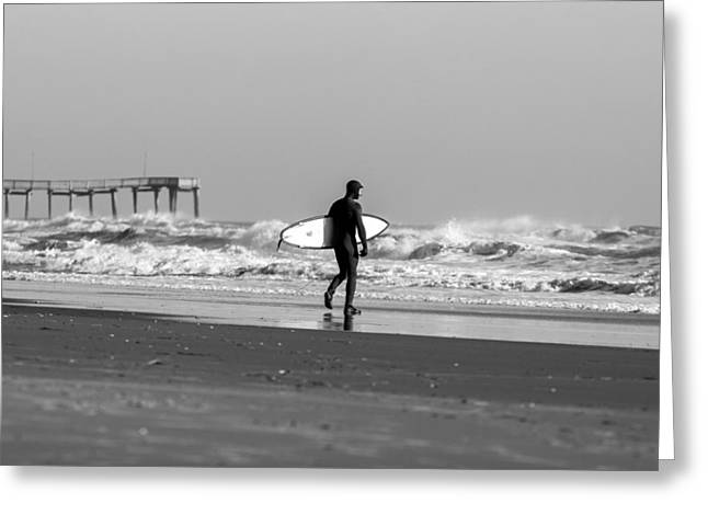 Surfing Art Greeting Cards - Into the Wild Greeting Card by AM Photography