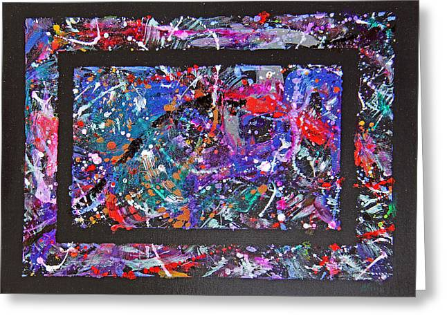 Recently Sold -  - Purple Abstract Greeting Cards - Intome Greeting Card by Robert W Dunlap