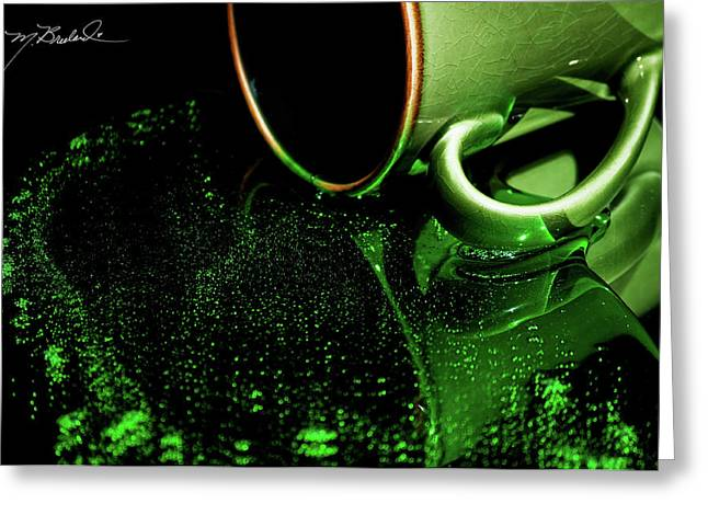 Envy Greeting Cards - Intoxicating Sip of Envy Greeting Card by Melissa Wyatt
