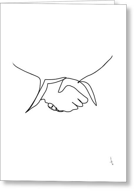 Intro Greeting Card by Harold Belarmino