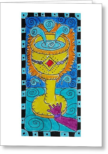 Subconscious Greeting Cards - Intuitive Catalyst Card - Ace of Cups Greeting Card by Corey Habbas