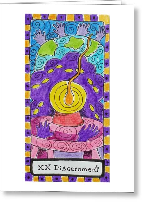 Subconscious Greeting Cards - Intuitive Catalyst Card - Discernment Greeting Card by Corey Habbas