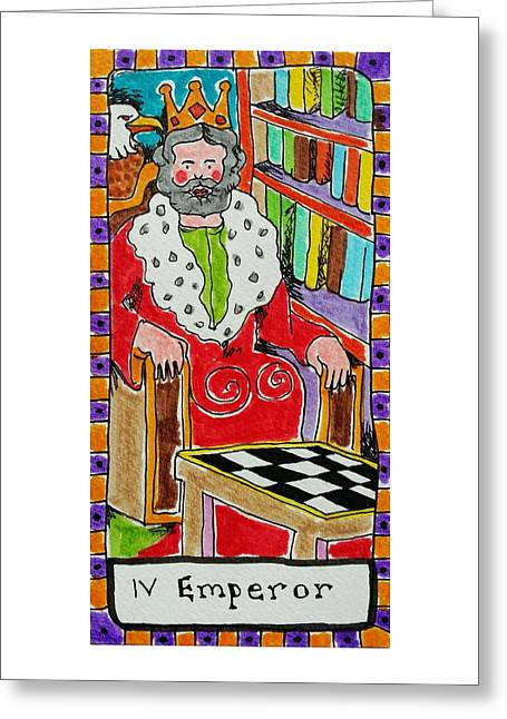 Talking Drawings Greeting Cards - Intuitive Catalyst Card - Emperor Greeting Card by Corey Habbas