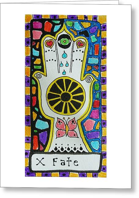 Subconscious Greeting Cards - Intuitive Catalyst Card - Fate Greeting Card by Corey Habbas