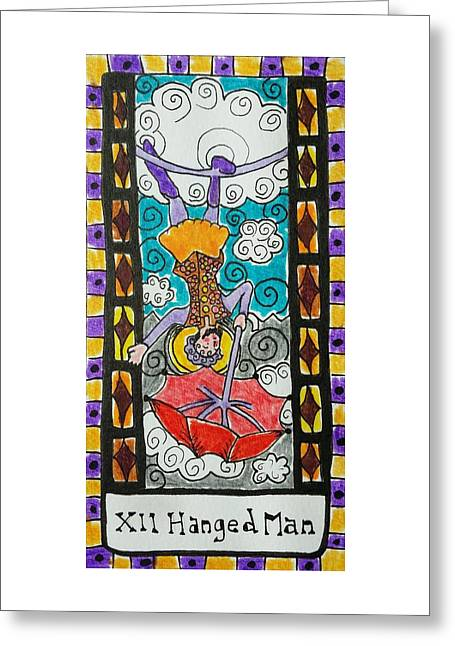 Subconscious Greeting Cards - Intuitive Catalyst Card - Hanged Man Greeting Card by Corey Habbas