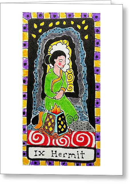 Subconscious Greeting Cards - Intuitive Catalyst Card - Hermit Greeting Card by Corey Habbas