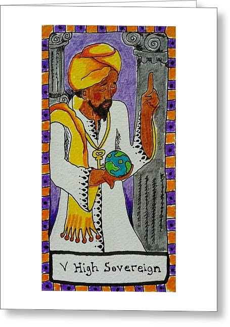 Subconscious Greeting Cards - Intuitive Catalyst Card - High Sovereign Greeting Card by Corey Habbas