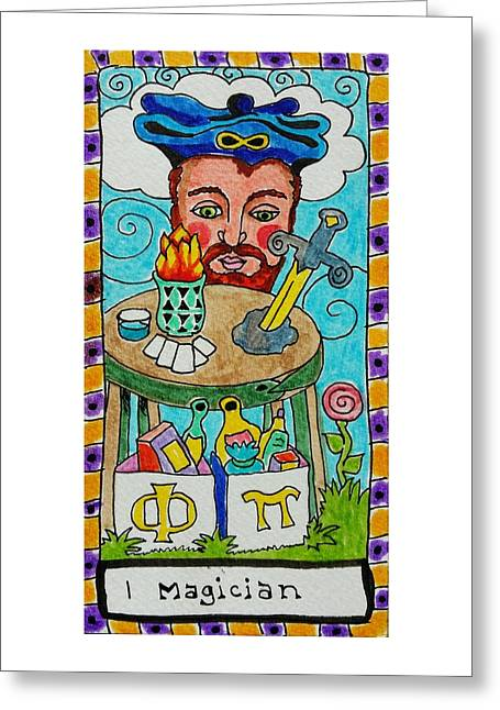 Subconscious Greeting Cards - Intuitive Catalyst Card - Magician Greeting Card by Corey Habbas