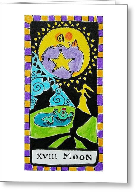 Subconscious Greeting Cards - Intuitive Catalyst Card - Moon Greeting Card by Corey Habbas