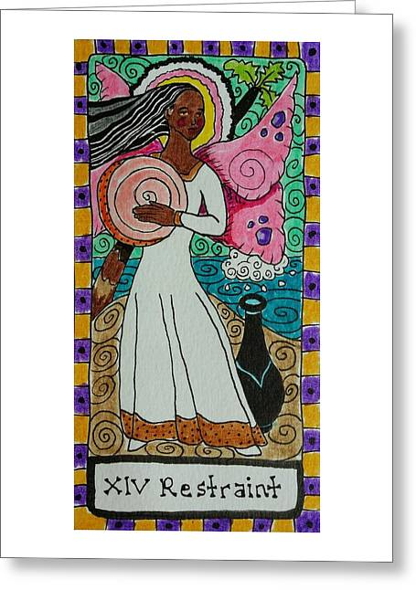 Subconscious Greeting Cards - Intuitive Catalyst Card - Restraint Greeting Card by Corey Habbas