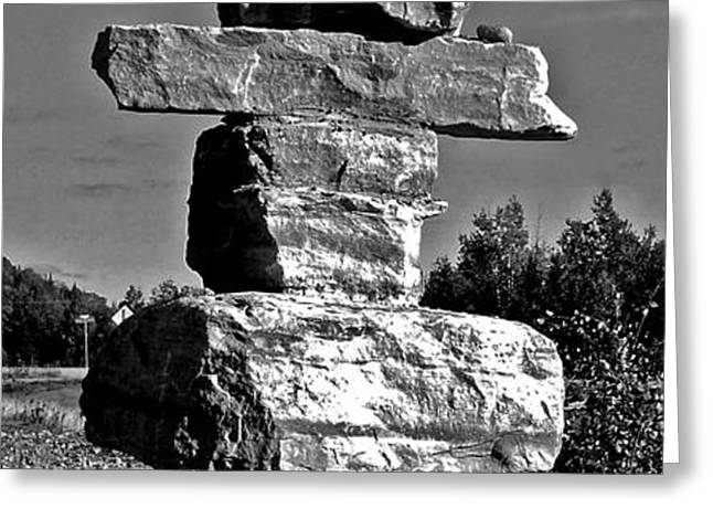 Inukshuk Greeting Card by Juergen Weiss