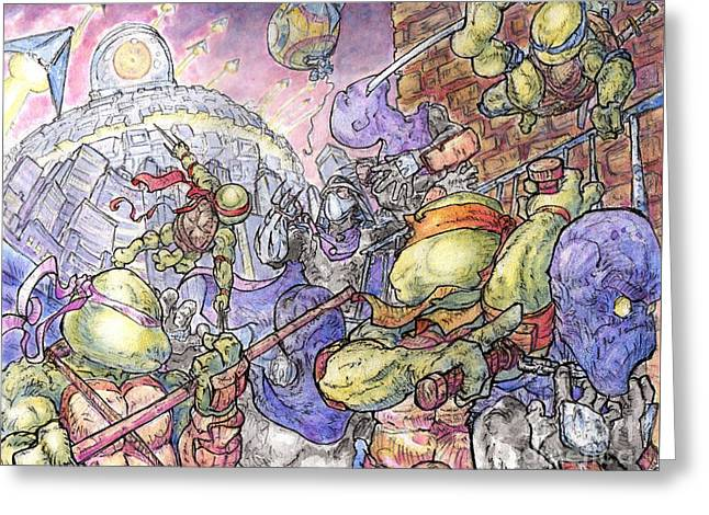 Invasion Greeting Card by Third Kind Productions