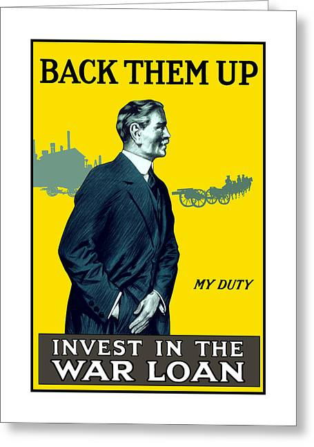 British Propaganda Greeting Cards - Invest In The War Loan Greeting Card by War Is Hell Store
