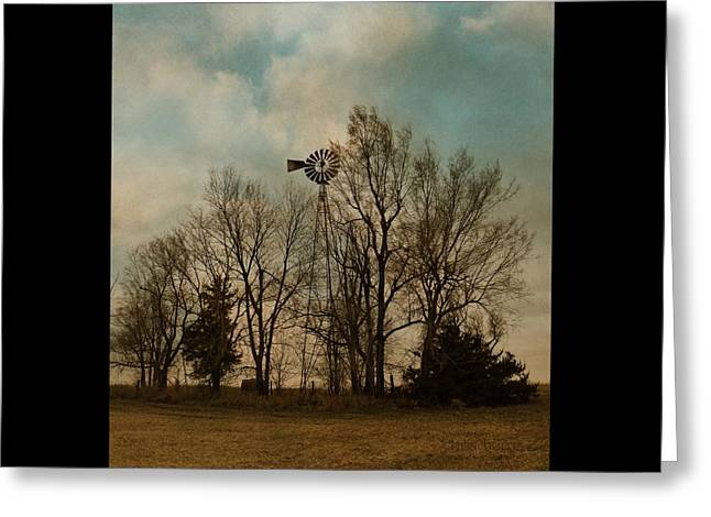 Old Barns Greeting Cards - Invisible Farm Greeting Card by Chris Berry