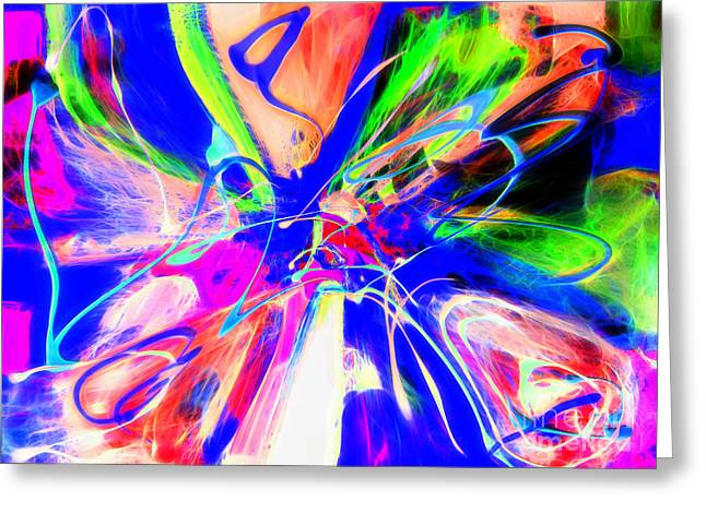 Energize Paintings Greeting Cards - Invisible Waves Greeting Card by Francine Collier