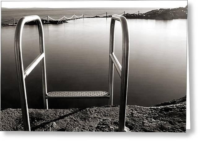Swim Ladder Greeting Cards - Invitation Greeting Card by Nicholas Blackwell