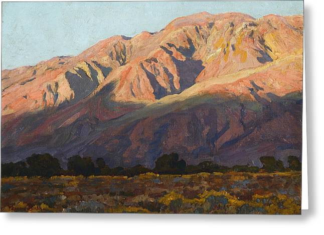 Maynard Dixon Greeting Cards - Inyo Range at Sunset Greeting Card by Celestial Images