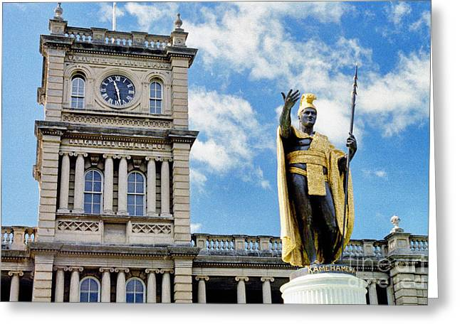 Kamehameha Greeting Cards - Iolani Palace Honolulu Greeting Card by Thomas R Fletcher
