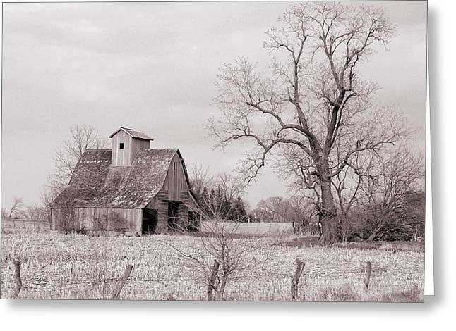 Jame Hayes Greeting Cards - Iowa Farm Greeting Card by Jame Hayes