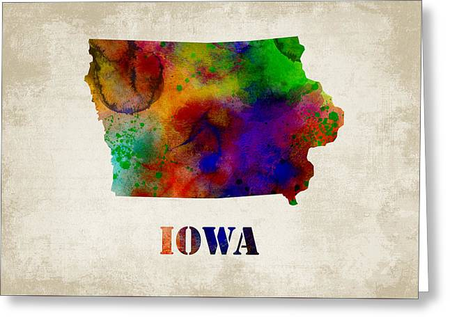 Iowa Greeting Card by Mihaela Pater