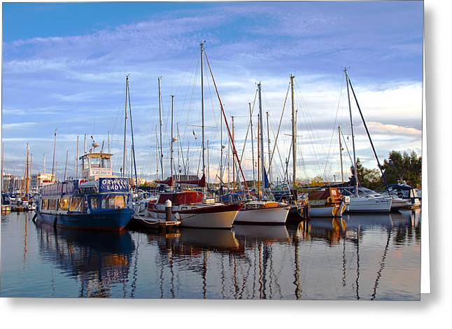 Creative People Greeting Cards - Ipswich Harbour Greeting Card by Svetlana Sewell