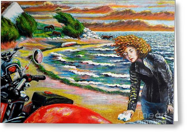 Sea Horse Greeting Cards - Ireland tour Greeting Card by Bik Erbrom