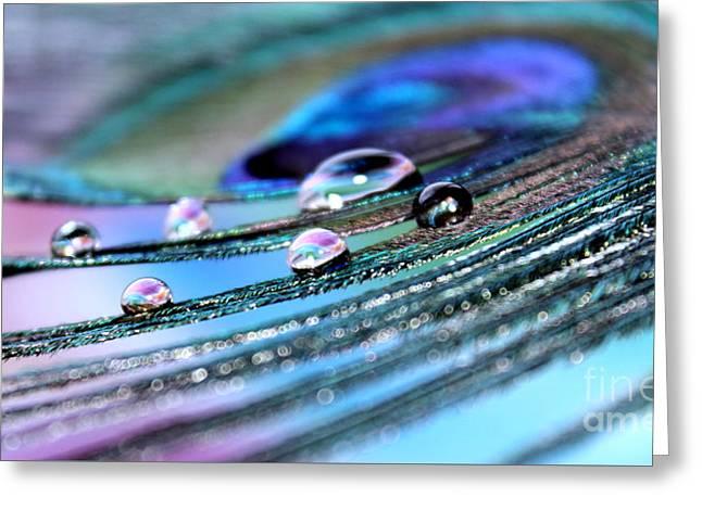Iridescent Jewels Greeting Card by Krissy Katsimbras