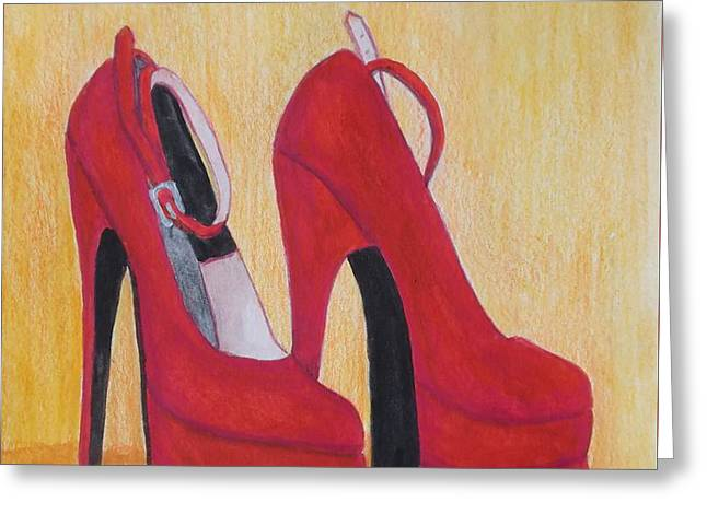 Straps Greeting Cards - Iridescent Red velvet Greeting Card by Patricia Voelz