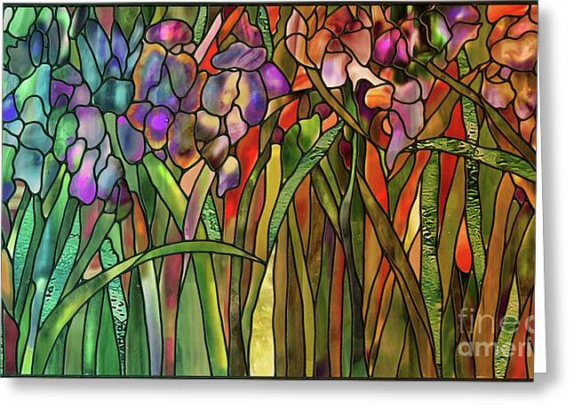 Iris Coloring Book Greeting Card by Mindy Sommers
