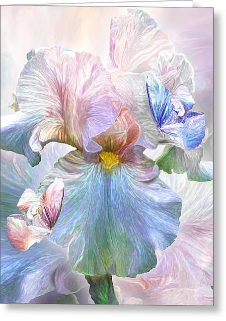 Iris - Goddess Of Serenity Greeting Card by Carol Cavalaris