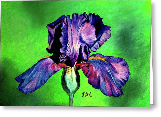 Bearded Irises Greeting Cards - Iris Greeting Card by Laura Bell
