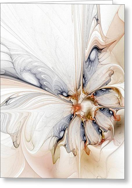 Abstract Digital Art Greeting Cards - Iris Greeting Card by Amanda Moore