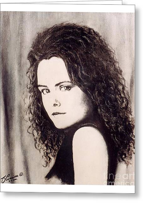 Spitfire Mixed Media Greeting Cards - Irish actress  Maeve McGrath Greeting Card by Liam O Conaire
