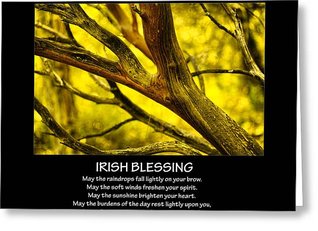 Irish Blessing Greeting Card by Bonnie Bruno