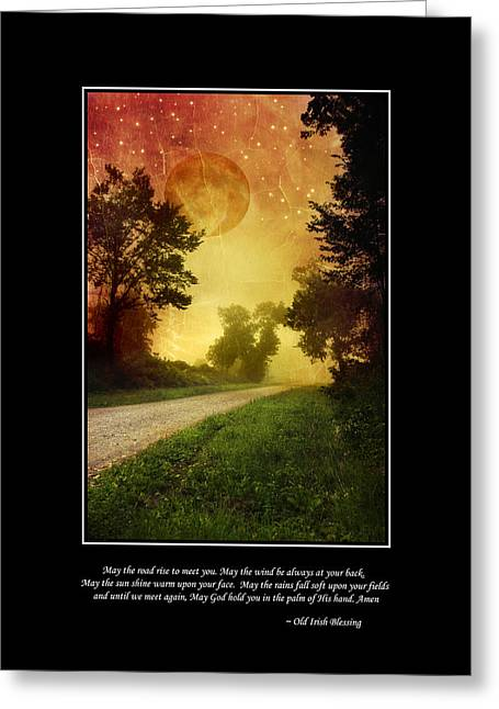 Irish Blessing Poster Art Greeting Card by Christina Rollo