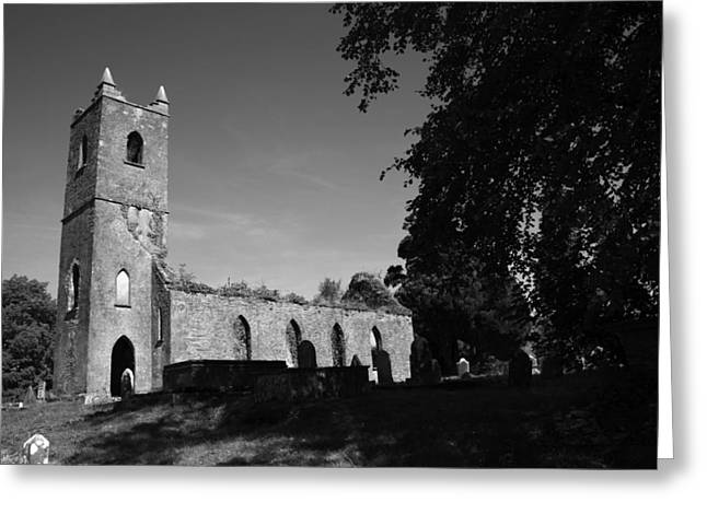 Church Ruins Greeting Cards - Irish chuch ruins Greeting Card by John Quinn