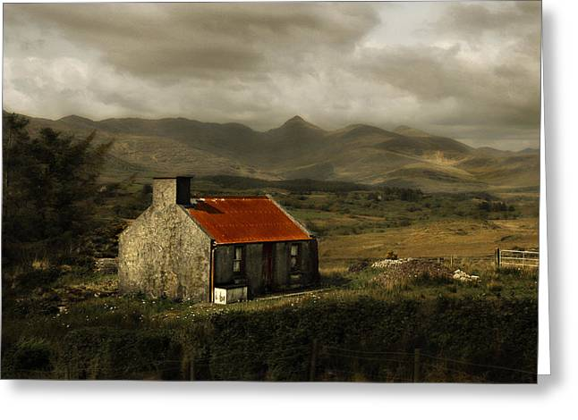 Tin Roof Greeting Cards - Irish Cottage Greeting Card by Beth Anthony