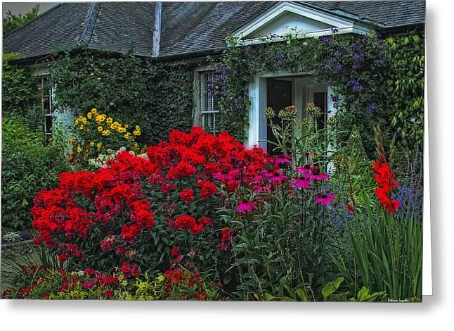 Charming Cottage Digital Art Greeting Cards - Irish Cottage Greeting Card by Rebecca Samler