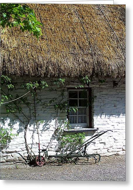Charming Cottage Greeting Cards - Irish Farm Cottage Window County Cork Ireland Greeting Card by Teresa Mucha