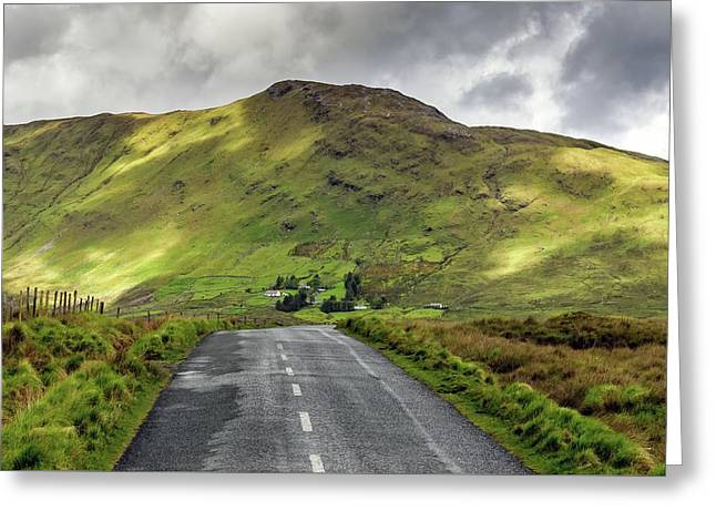 Irish Highway Greeting Card by Chris Buff