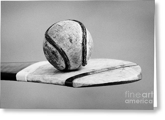 Indigenous Greeting Cards - Irish Hurling Ball And Stick Greeting Card by Joe Fox