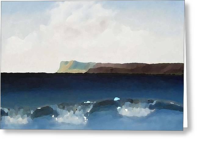 Cliffs Mixed Media Greeting Cards - Irish Landscape 2 Greeting Card by Patrick J Murphy