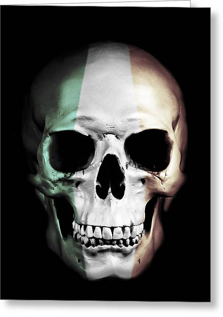 Irish Skull Greeting Card by Nicklas Gustafsson