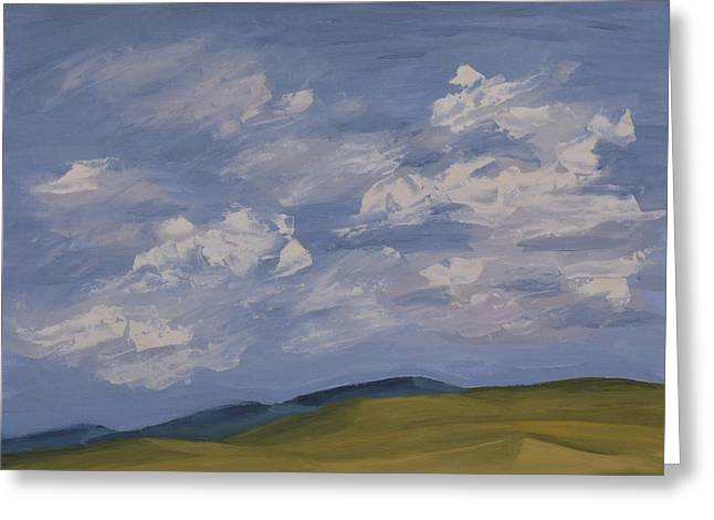 Irish Sky Greeting Card by John Farley